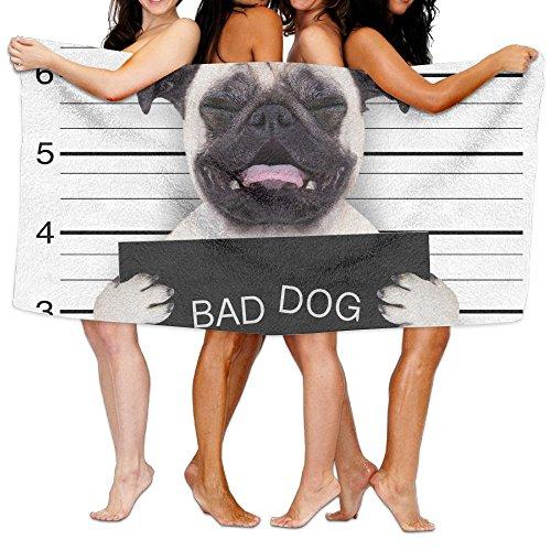 Fallake Bath Towels, Funny Bad Dog Super Soft Ultra Absorbent Bath Towel For Men Women Kids, Bathroom Accessories - Boy Spa Dog Bad