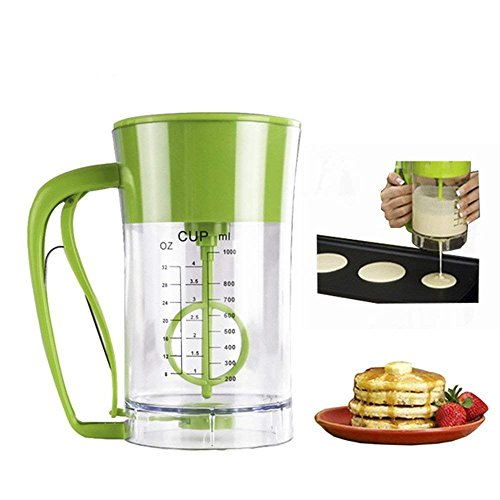 Wewin Automatic Mixing Pancake Maker Express Cupcake Pancake Batter Dispenser Funnel Valve Measuring Cup Baking Essentials Cake Batter