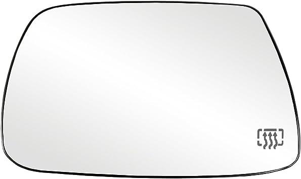 espejo de puerta derecha de repuesto Cristal de espejo lateral del conductor cristal de espejo calefactado con placa trasera para B6 2005-2010