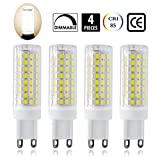 G9 led Light Bulbs 75W 100W Replacement, Halogen Bulbs Equivalent 850lm, Dimmable g9 led Bulbs AC110V 120V 130 Voltage Input, Warm White Pack of 4 (Daylight White 6000K)