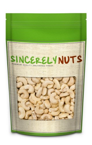 Sincerely Nuts Cashews, Whole, Raw, 5 lbs