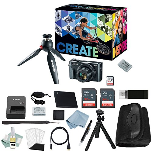 Canon G7x Mark II Video Creator Kit + Canon PowerShot g7 x Mark II Deluxe Accessory Bundle – Including EVERYTHING You Need To Get Started