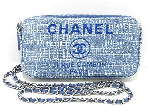 (シャネル)CHANEL 財布 ドーヴィルライン ライトブルー×ライトグレー A84415 【中古】   B07S74QNMC