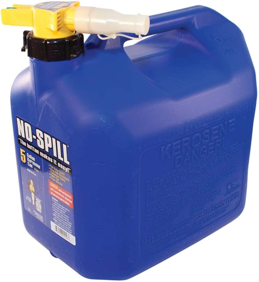 No-Spill 1456 5-Gallon Poly Kerosene Can (CARB & EPA Approved)