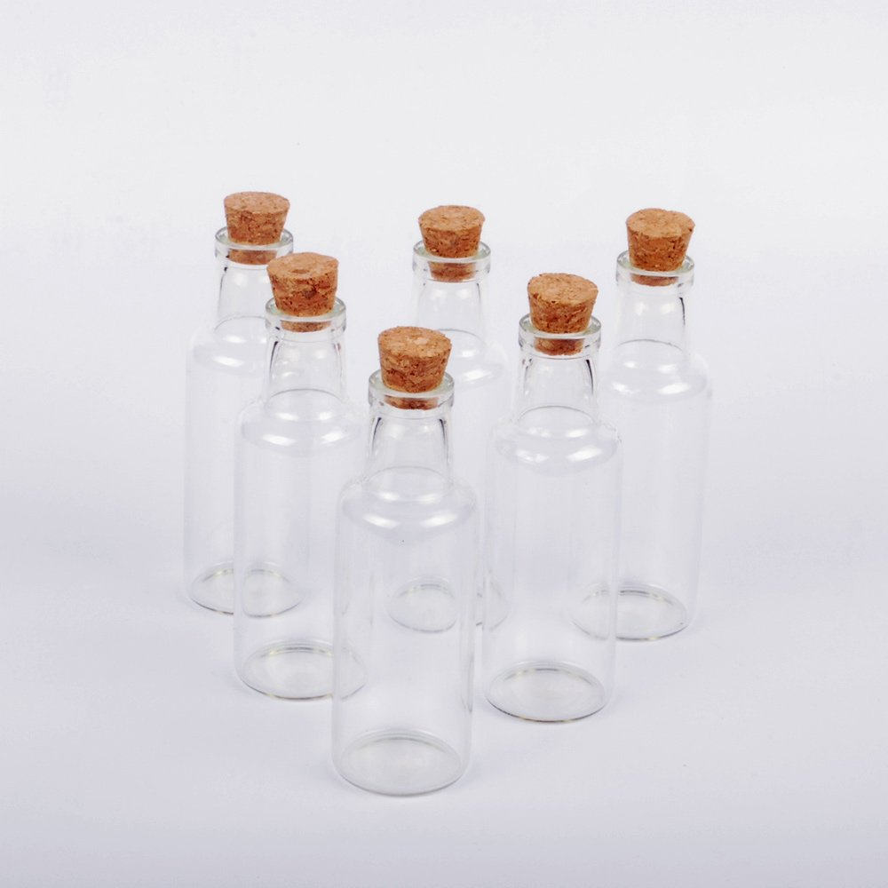 Dowonsol 6pcs Glass Bottles Sand Art Bottles with Cork Message ...