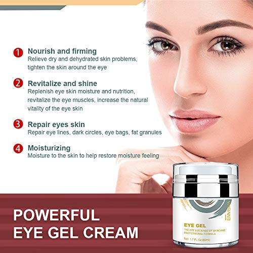 515hA91MUfL - Wumal Eye Gel Cream for Appearance of Dark Circles, Puffiness, Wrinkles and Bags - Effective Anti Aging Eye Cream for Men and Women
