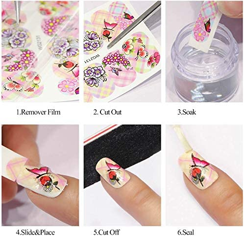 Nail Art Stickers Decals Nail Foil Art Supplie Nail Accessories Street Fashion Python Cool Letter 16 Designs Nail Water Transfer Halloween Nail Stickers Cosplay Decoration Acrylic Nail Art