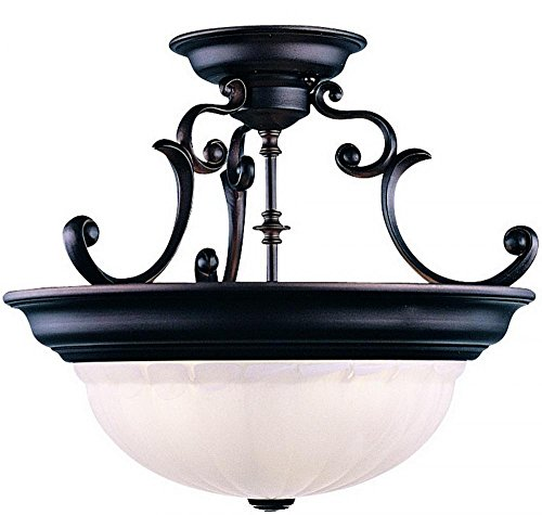 - Dolan Designs 525-30 3Lt Royal Bronze Richland 3 Light Semi Flushmount,