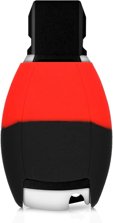 - Carcasa Protectora Suave de Silicona Solamente Keyless Go kwmobile Funda para Llave de 2 Botones para Coche Case de Mando de Auto con dise/ño Bicolor
