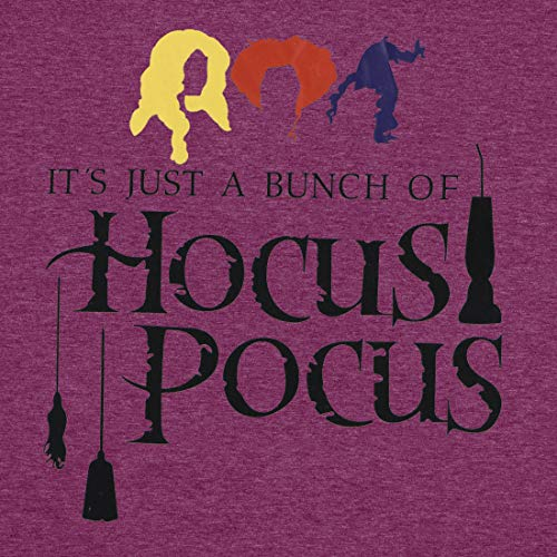 Women Hocus Pocus Novelty Shirt Halloween Movie Short Sleeve Funny Tops Letter Print Holiday Tees (A-Purple, Small)