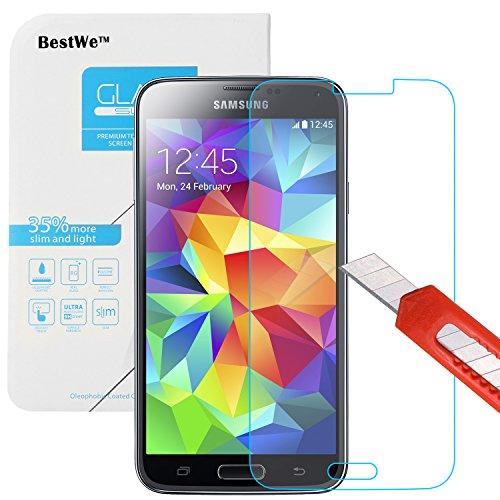 Samsung Galaxy S5 Panzerglas, Bestwe Schutzglas 0,3mm 9H Gehärtetem Glas Displayschutzfolie (Samsung Galaxy S5 Panzerglas)