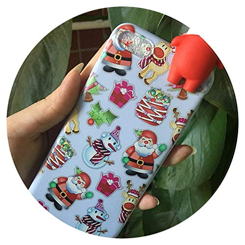 Merry Christmas Santa Claus Phone Case for iPhone X 7 8 6s 6 5s 5 Cover Cases 3D Cartoon Silicone Soft TPU Phone Case,Pattern 2,for iPhone X