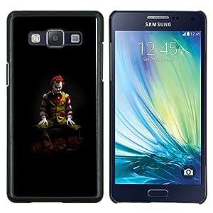 Caucho caso de Shell duro de la cubierta de accesorios de protección BY RAYDREAMMM - Samsung Galaxy A5 A5000 - DIVERTIDO JOKER COMIDA POR QUÉ TAN FELIZ