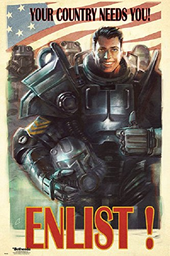 amazon com fallout 4 uncle sam 24x36 poster posters prints