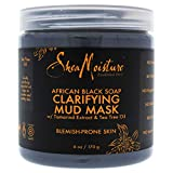 Shea Moisture African Black Soap Clarifying Mud Mask for Unisex, 6 Ounce