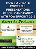 If you're thinking about buying, or already own, PowerPoint 2013, but are not sure if you can master the skills to create powerful presentations with it, this illustrated step-by-step guide is designed to help you create and deliver impressive, high-...