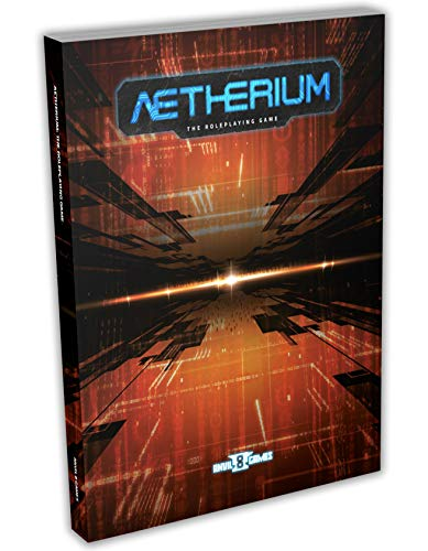 Aetherium The Role-Playing Game Book by Anvil 8 Games, Cyberpunk Sci-Fi Tabletop RPG Hardcover, Ages 13+ (2-5 Players)