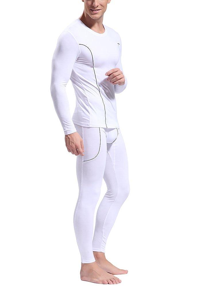 DOOXIUNDI Mens Ultra Soft Bamboo Fiber Thermal Underwear Long Johns Set