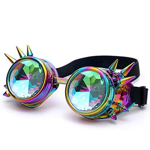 Amlaiworld Multicolore Kaléidoscope Soleil Colorés Lunettes De Soleil Party Diffractée ❤️Lunettes EDM de Verres Festival Lentille Rave xZFURq