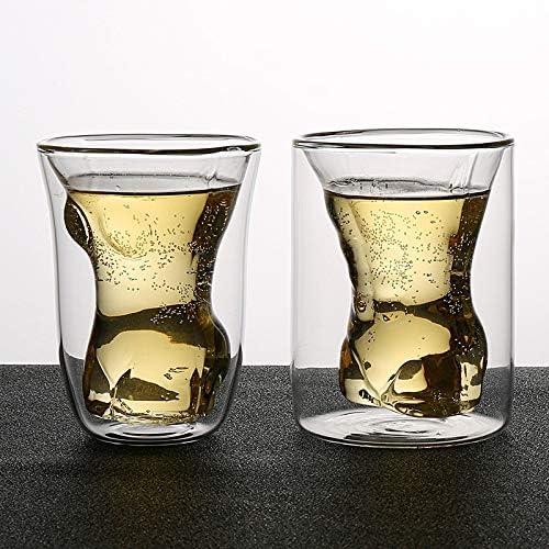 Juego de 2 vasos de chupito con forma de hembra y macho ...