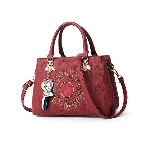 Gwqgz Female Bag Spring And Summer New Shoulder Bag, Fashion, Gules Gules