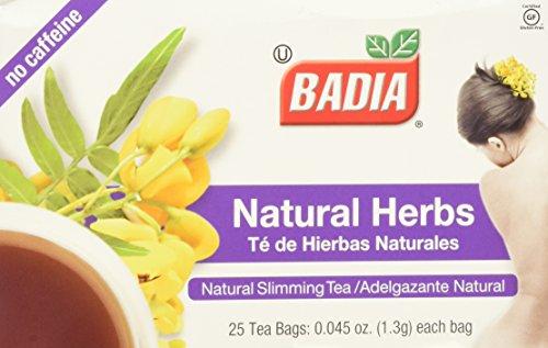 Badia - Natural Herbs Natural Slimming Tea Caffeine-Free - 25 Tea Bags - Badia Tea