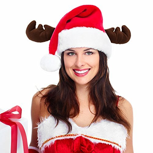 6cbf4d9f512e0 Crusar Santa Hat Xmas Cap Christmas Antler Costume Holiday Party Accessory  Women Adults Red - Buy Online in Oman.