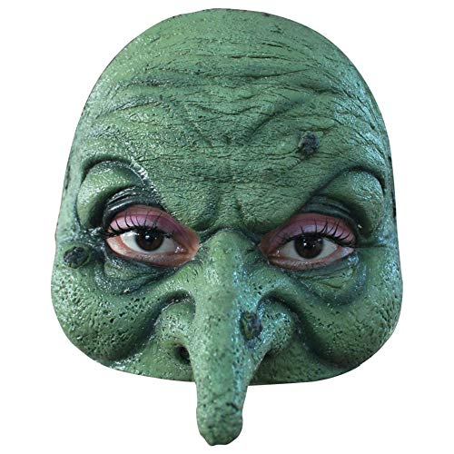 Générique Generic - mahal671 Witch Adult Latex Half Mask - Green - One -