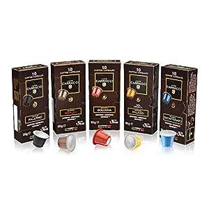 Caffè Carracci, Capsule Compatibili Nespresso, Kit Miscele Assortite - 5 astucci da 10 capsule (totale 50 capsule)