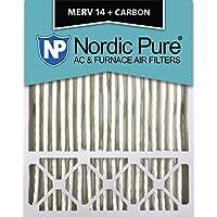 Nordic Pure 20x25x5 (4-3/8 Actual Depth) Lennox X6675 Replacement MERV 14 Plus Carbon AC Furnace Air Filter, Box of 1