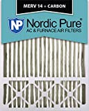 Nordic Pure 20x25x5 (4-3/8 Actual Depth) Lennox X6675 Replacement MERV 14 Plus Carbon AC Furnace Air Filter, Box of 1