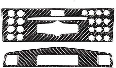 garniture de panneau de navigation de console centrale en fibre de carbone pour Classe C W204 2005-2012 Yctze Garniture de panneau de console centrale