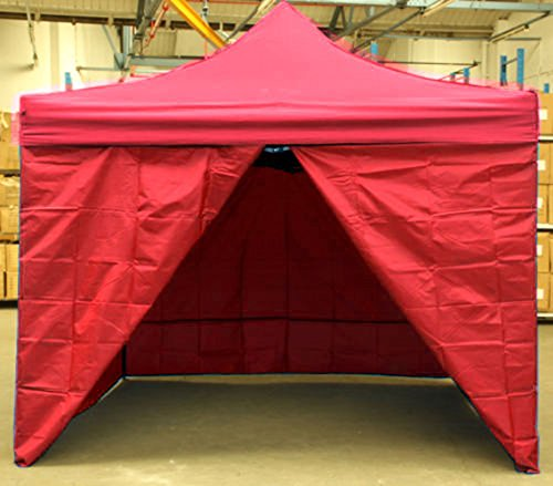 Miss Lilac Side Cover Walls Panel (Cover 4 Sides) For 3m X 3m Market Gazebo Tent (Red)