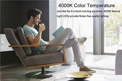 LED Deckenleuchte I Glas Wohnzimmerlampe I Pendelleuchte Kristall in modernem Design I inkl. 18 W LED Platine I Esszimmerlampe I 4000K Naturweiß l 230 V
