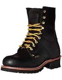 AdTec Men's 9 Inch Steel Toe Logger Boot