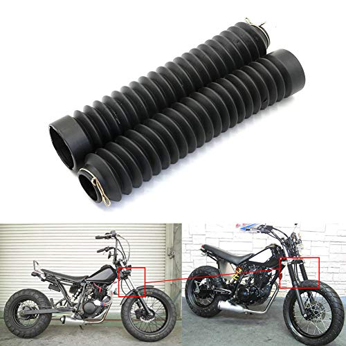 Newsmarts Motorcycle 41mm Fork Covers Front Rubber Gaiters Gators Shock Boots Compatible with Harley Softail FXST Dyna FXDWG