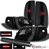 ford f150 3rd brake light 2000 - For 1997-2004 Ford F150 Mystery Black Smoked Headlights + Tail Lights + LED 3rd Brake Lamp 1998 1999 2000 2001 2002 2003