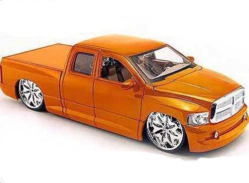 Dodge Ram Pickup Truck, Orange - Jada Toys Dub City 63162 - 1/18 scale Diecast Model Toy Car