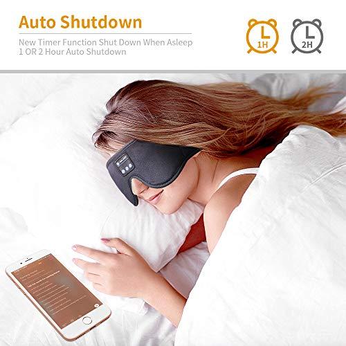 Sleep headphones With Timer ,Bluetooth 5.0 Wireless 3D Eye Mask, Bluetooth Sleep Mask with Built-in Sponge Speakers for Side Sleepers, Wireless Sleep Headphone for Sleeping, Air Travel, Meditation