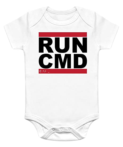 79decc31c Image Unavailable. Image not available for. Color: Nerdy Onesies Unisex Baby  Run CMD Onesie