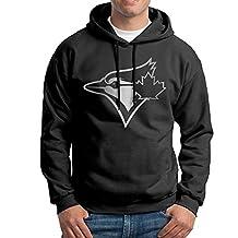 Men Toronto Blue Jays Platinum Logo Hooded Sweatshirt Black