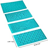 4pc Plastic Embossed Icing Moulds Kits by Kurtzy