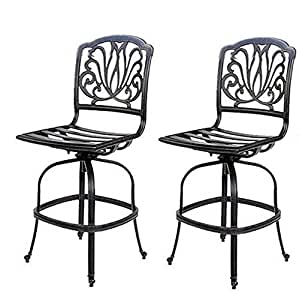 Elisabeth armless bar stool swivel 39 s cast - Amazon bedroom chairs and stools ...