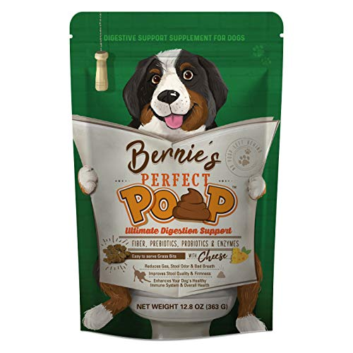 Bernie's Perfect Poop: Ultimate Digestion Support - Fiber, Prebiotics, Probiotics & Enzymes - Optimize Stool, Immune System and Overall Health - Convenient 4 in 1 Formula - Relieves Constipation