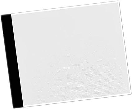 超薄型、A4 LEDペインティングボード、トレーシングコピーパッド、パネル、描画タブレットホワイト&ブラック