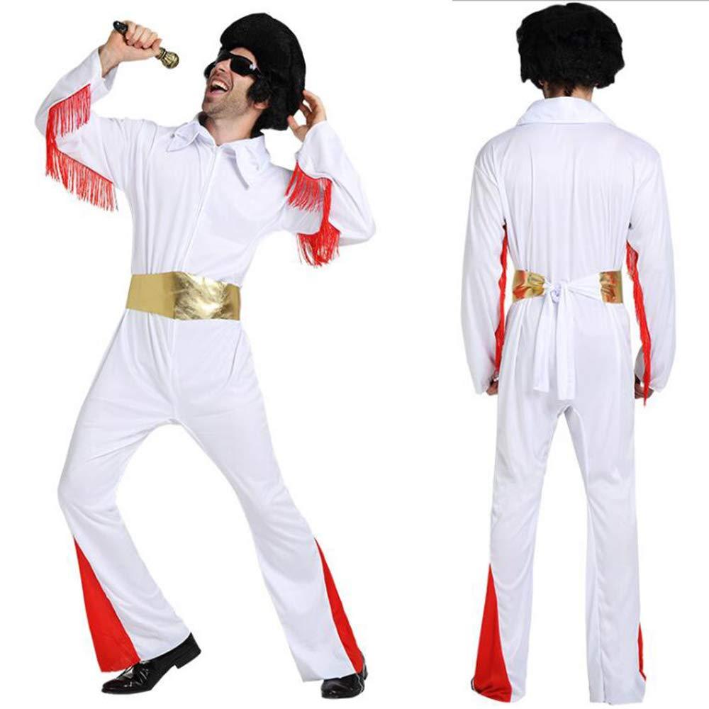 Disfraz de Elvis para Hombre, Disfraz de Elvis, Color Blanco ...