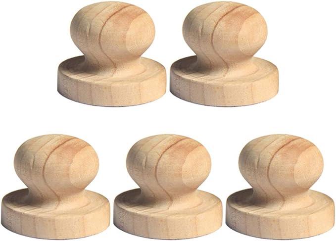 Milisten 5 unidades 3 8 cm de madera cajón botones tirador bola desacabado muebles muebles armario armario puerta tirador asas: Amazon.es: Bricolaje y herramientas