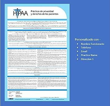 2019 Spanish HIPAA Notice of Privacy Policy Poster Español Aviso de Prácticas de Privacidad Notice of Privacy Policy Poster