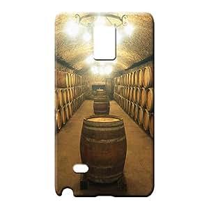 samsung note 4 Hybrid Plastic Protective Cases mobile phone back case barrels of wine aging