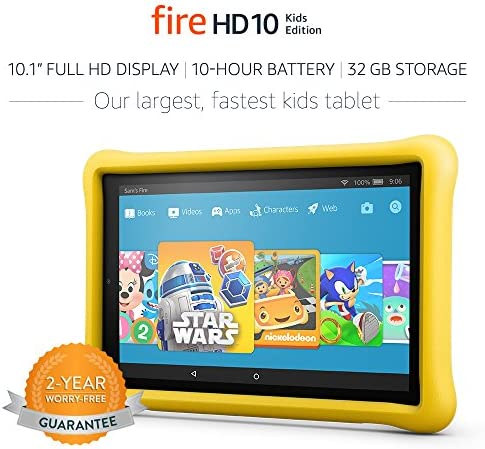 All New Tablet Display Yellow Kid Proof